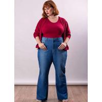 Calça Jeans Almaria Plus Size Lady More Wide Leg A