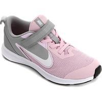 Tênis Infantil Nike Downshifter 9 Velcro Psv - Unissex-Pink+Prata