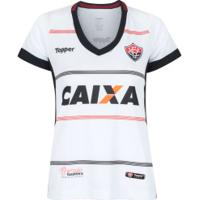 Camisa Do Vitória Ii 2018 Topper - Feminina - Branco/Vermelho
