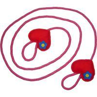 Pula Corda Kits E Gifts Em Sisal Trançado - Coração - Artesanal - 2 Metros - Vermelho