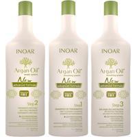 Kit Shampoo + Tratamento + Bálsamo Inoar Argan Oil New Advanced Formula Kit - Unissex-Incolor