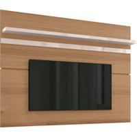 Painel Para Tv Até 70 Decorativo Sala De Estar Antália Freijo/Off White - Gran Belo