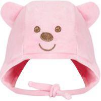 Touca Everly Plush Urso Rosa
