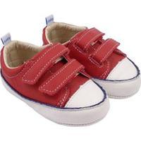 Tênis Infantil Couro Catz Calçados Noody Velcro - Unissex-Vermelho