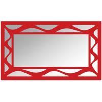 Espelho De Parede 12877V Vermelho 70X110 Art Shop
