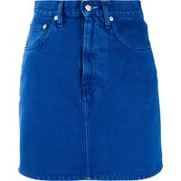 Helmut Lang High-Rise Denim Mini Skirt - Azul