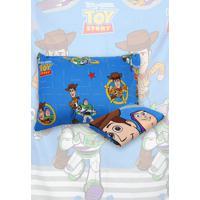 Jogo De Cama Solteiro Lepper 2Pã§S Toy Story 1,40 M X 2,20 M Azul - Azul - Dafiti