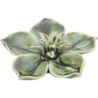 Flor Decorativa De Cerâmica Verde Echeveria Suculent