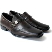 Sapato Social Zanuetto Couro Confort Masculino - Masculino-Marrom
