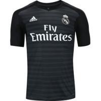 ... Camisa De Goleiro Real Madrid I 18 19 Adidas - Masculina - Preto Cinza e5ba0a5452333