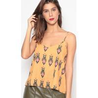 Blusa Floral- Amarelo Escuro & Preta- Sommersommer