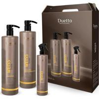 Kit Weiss Treat Desmaia Duetto Shampoo 1L + Efeito Liso 1L + 1 Fluído 300Ml - Unissex-Incolor