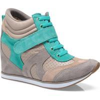 Sneaker Fem Via Marte 13-17204 Taupe/Nude/Esmeralda