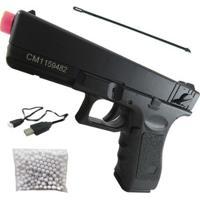 Pistola Airsoft Elétrica Cyma Cm030S 200 Fps Com Mosfet E Gearbox Rolamentada - Unissex