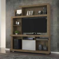 Estante Home Para Tv 47 Polegadas Viena Flex Color Avelã E Off White