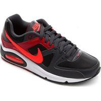 Tênis Nike Air Max Command Masculino - Masculino-Vermelho+Preto