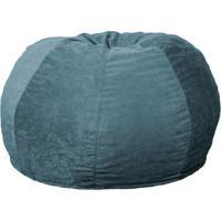 Puff Confort Maçã Suede Azul 100 Cm