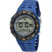 Kit De Relógio Digital Speedo Masculino + Carregador Portátil - 81199G0Evnp1Ka Azul Escuro