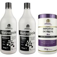 Escova Progressiva Metropole Ureia Botox Blue Repositor De Massa - Urban Eco