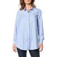 Camisa Calvin Klein Com Amarração Azul Claro - 40