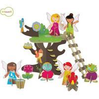 Quebra Cabeça Krooom 3D Na Maletinha Árvore Das Fadas Feminino - Feminino-Incolor