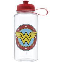 Garrafa Squeeze Wonder Womanâ®- Incolor & Vermelha- 1Urban