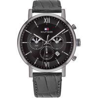 Relógio Tommy Hilfiger Masculino Couro Cinza - 1710395