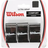 Overgrip Wilson Ultra Wrap - 3 Unidades - Preto