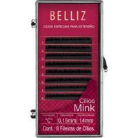 Cílios Para Alongamento Belliz - Mink C 015 14Mm 1 Un - Feminino-Incolor
