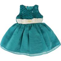 Vestido Festa Gira Baby Kids Infantil Verde