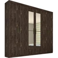 Guarda-Roupa Casal Com Espelho Olimpo 6 Pt Cumaru Rustic