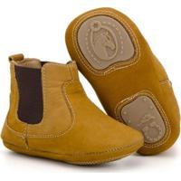 Botina Infantil Em Couro Capelli Boots Masculina - Masculino-Marrom Claro