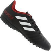f78bbf18c9 Chuteira Society Adidas Predator Tango 18.4 Tf - Adulto - Preto Vermelho