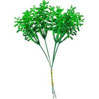 Flor Permanente Verde Escuro Com Verde Claro - Multicolorido - Dafiti