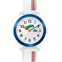 Relógio Lacoste Infantil Borracha Branca E Vermelha - 2030027