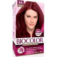 Tintura Biocolor Coloração Creme Vermelho Intenso 6.6 Mini Kit