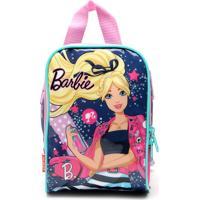 Lancheira Sestini Infantil Barbie Plus Azul/Rosa