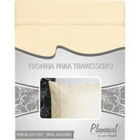 Fronha-Percal 233 Fios-Bege-Ponto Palito-50X70