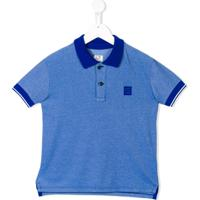 Cp Company Kids Camisa Polo Com Mangas Curtas - Azul