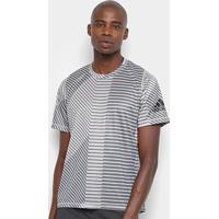 Camiseta Adidas Fl G Htr Ss Aop Masculina - Masculino-Cinza