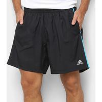Short Adidas Response 7 Pol. Masculino - Masculino-Preto+Azul Turquesa