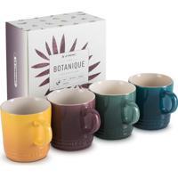 Canecas Espresso Botanique Kit Com 4 Peças 100 Ml Roxo Fig, Amarelo Nectar, Azul Deep Teal E Verde Artichaut Le Creuset