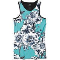 Camiseta Bsc Regata White Flowers Full Print - Masculino