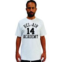 Camiseta Cnx Fresh Prince Bel Air Academy Will Smith Branca.