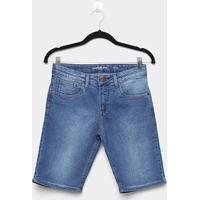 Bermuda Jeans Infantil Calvin Kleins Five Pockets Masculina - Masculino-Jeans