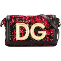 Dolce & Gabbana Kids Bolsa Tiracolo De Tweed - Vermelho
