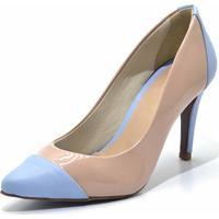 Scarpin Gisela Costa Nude/Azul