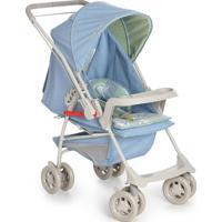 Carrinho De Bebê Galzerano Milano Reversível Azul