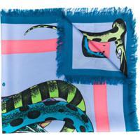 Marni Lenço Com Estampa Gráfica - Azul