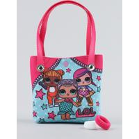 Bolsa Infantil Lol Surprise + Elásticos De Cabelo Pink - Único